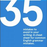 دانلود رایگان کتاب ۳۵ Mistakes to Avoid in Writing