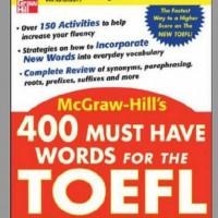 دانلود کتاب ۴۰۰ MUST HAVE WORDS FOR THE TOEFL با ترجمه فارسی لغات